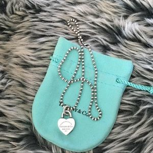 Authentic Return to Tiffany Heart Lock Necklace